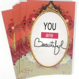 TruBeu You are beautiful postcards_front