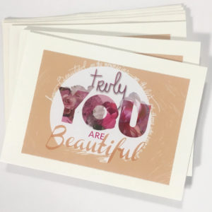 TruBeu You are beautiful cards_front